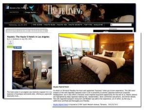 Haute living magazine 2011 issue featured Relaken