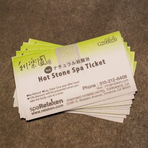 Hot Stone Spa 20 tickets