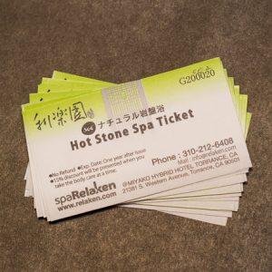 Hot Stone Spa 20 tickets