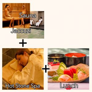 Spa Lunch Package - Hot Stone Spa + Sauna + Jacuzzi + Lunch