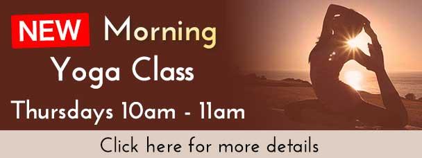 New Morning Hot Yoga Class on Thursdays 10 to 11am